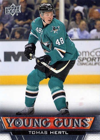 Sam-Tageson-Upper-Deck-Young-Guns-Tomas-Hertl-San-Jose-Sharks-Rookie-Autograph