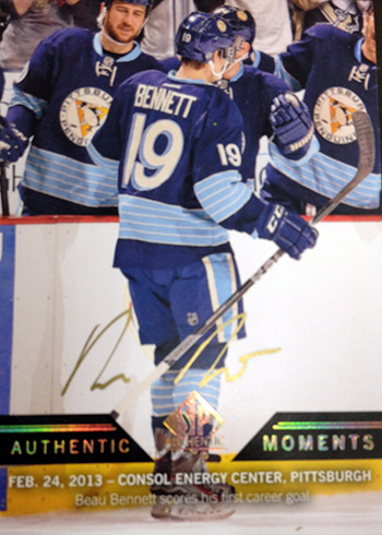 2013-14-NHL-SP-Authentic-Autographed-Authentic-Moments-Beau-Bennett