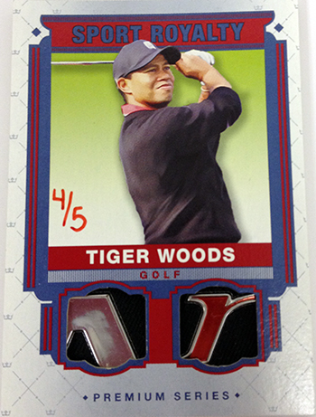 2014-Goodwin-Champions-Memorabilia-Sports-Royalty-Tiger-Woods-Golf