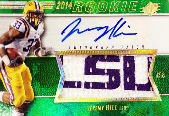 2014-SPx-Football-Autograph-Rookie-Patch-Jeremy-Hill