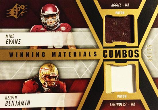 2014-SPx-Football-Winning-Materials-Dual-Evans-Benjamin