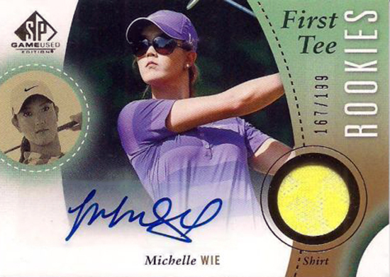 Michelle-Wie-2014-SP-Game-Used-Golf-First-Tee-Autograph-Memorabilia-Rookie-Card