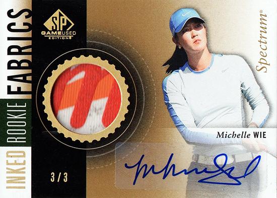 Michelle-Wie-2014-SP-Game-Used-Golf-Inked-Fabrics-Memorabilia-Rookie-Card