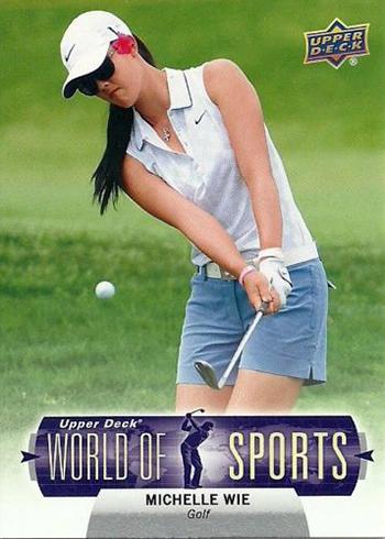 Michelle-Wie-Upper-Deck-Golf-Trading-Card-Rookie-2011-World-of-Sports-XRC