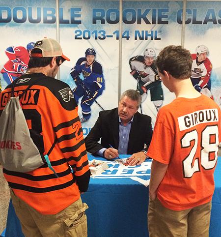 2014-NHL-Draft-Upper-Deck-Booth-Philadelphia-Flyers-Fan-Meet-Dave-the-Hammer-Schultz