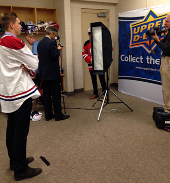 2014-NHL-Draft-Upper-Deck-Gauntlet-Photo-Shoot-Video-Production