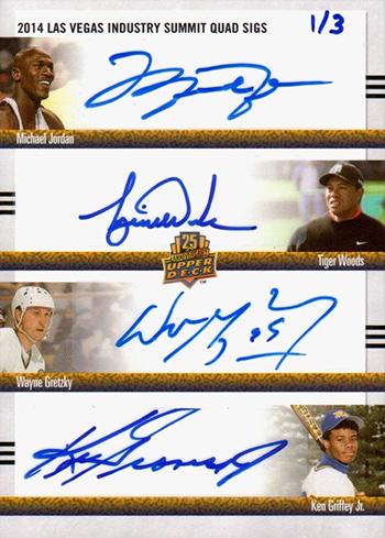 2014-Upper-Deck-Las-Vegas-Industry-Summit-Quad-Autograph-Jordan-Griffey-Gretzky-Tiger