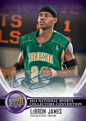 2014-Upper-Deck-National-Sports-Collectors-Convention-Wrapper-Redemption-Autograph-LeBron-James