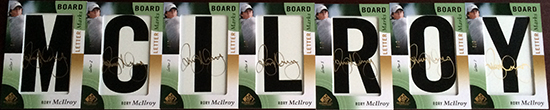 Rory-McIlroy-2014-SP-Game-Used-Golf-Leaderboard-Letter-Marks-Rory-McIlroy-Full-Set-Nameplate