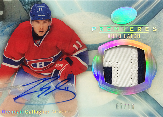 2013-14-NHL-Upper-Deck-Ultimate-Collection-Autograph-Rookies-Ice-Premieres-Patch-Brendan-Gallagher