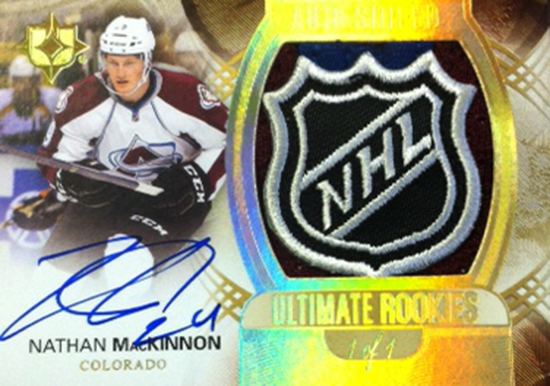 2013-14-NHL-Upper-Deck-Ultimate-Collection-Autograph-Rookies-Shield-Nathan-MacKinnon