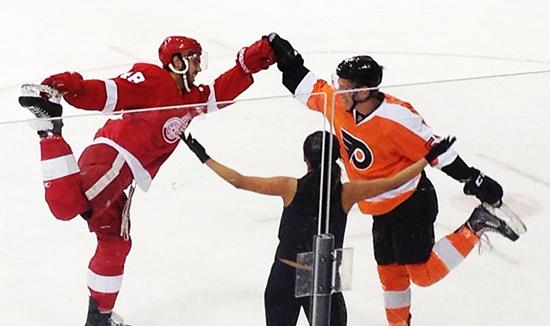 2014-NHLPA-Rookie-Showcase-Game-Figure-Skating-Flyers-Wings-Upper-Deck