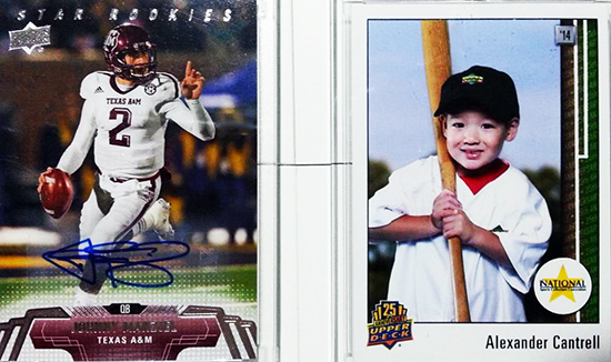 2014-National-Sports-Collectors-Convention-Upper-Deck-Autographs-Johnny-Manziel-Personalized-Cards-Father-Son-Kids-Memories