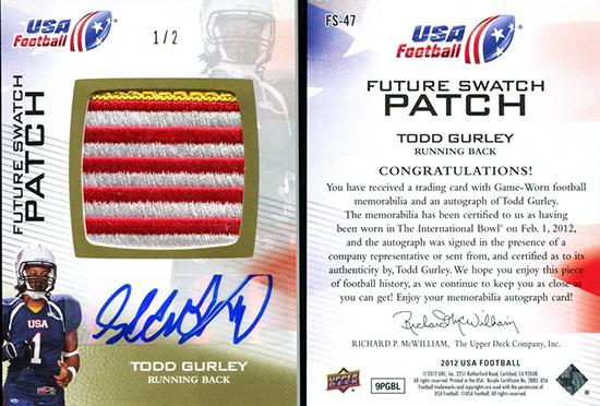 Brag-Photo-Todd-Gurley-Upper-Deck-USA-Football-Georgia-Bulldogs-Running-Back-Autograph-Patch