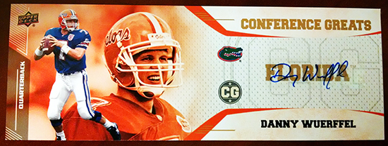 2014-Upper-Deck-Conference-Greats-SEC-Autographed-Danny-Wuerffel-Blow-Up-Box-Topper-