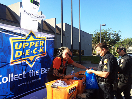 Upper-Deck-Gives-Back-Charity-Philanthropy-Halloween-Trick-or-Trade-Police-Law-Enforcement-Local-2