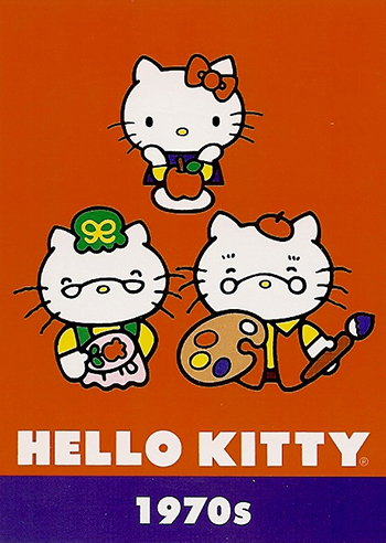 Upper-Deck-Sanrio-Hello-Kitty-40th-Anniversary-Fun-Packs-Collectibles-Decade-1970s