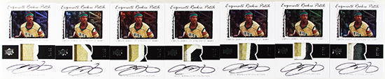 2013-14-Exquisite-Collection-Basketball-LeBron-James-Game-Used-Jersey-Rookie-Patch-Cards-3