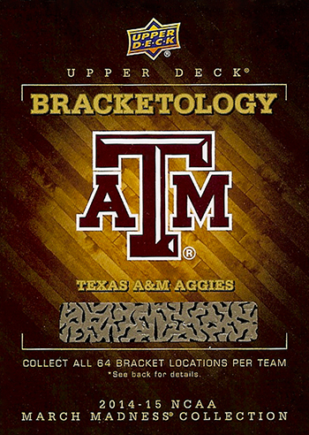 2014-15-NCAA-March-Madness-Collection-Basketball-Bracketology-Game-Redemption-Card-Texas-A&M