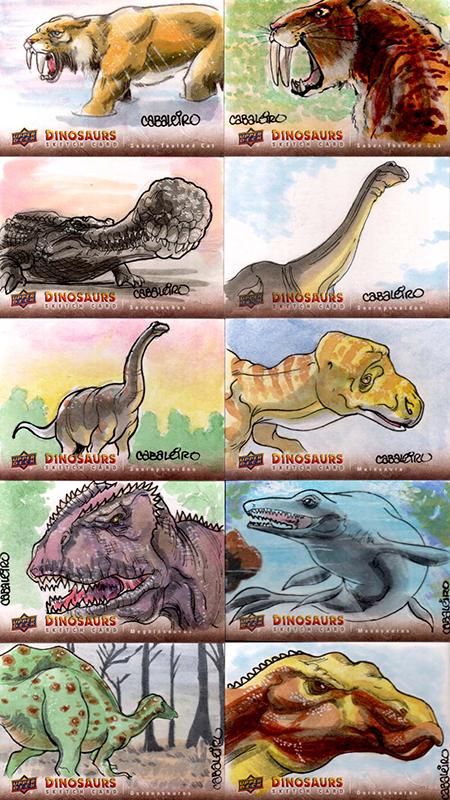 2015-Upper-Deck-Dinosaurs-Sketch-Cards-Carlos-Cabaliero