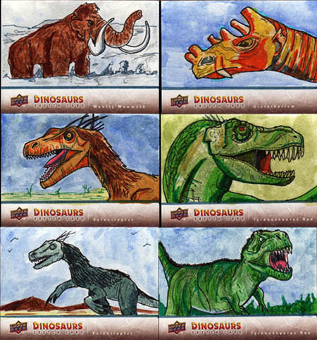 2015-Upper-Deck-Dinosaurs-Sketch-Cards-Matthew-Brazier