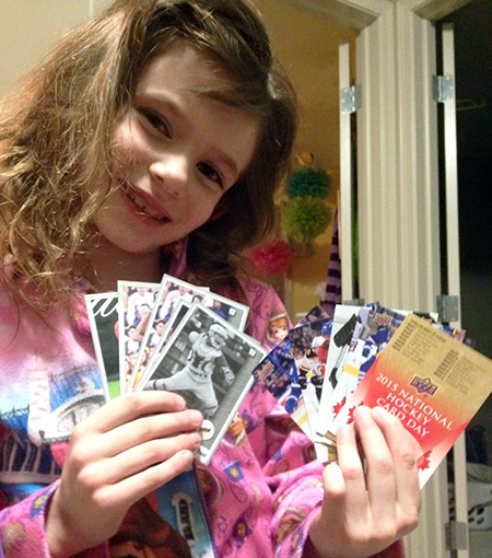 National-Hockey-Card-Day-Happy-Girl-NHCD-Canada-Lots-of-Cards-2