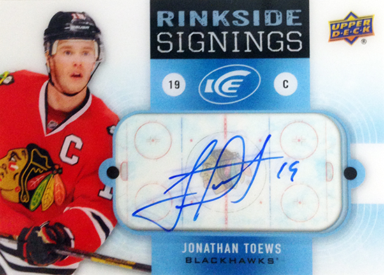 2014-15-NHL-Upper-Deck-Ice-Rinkside-Signings-Jonathan-Toews