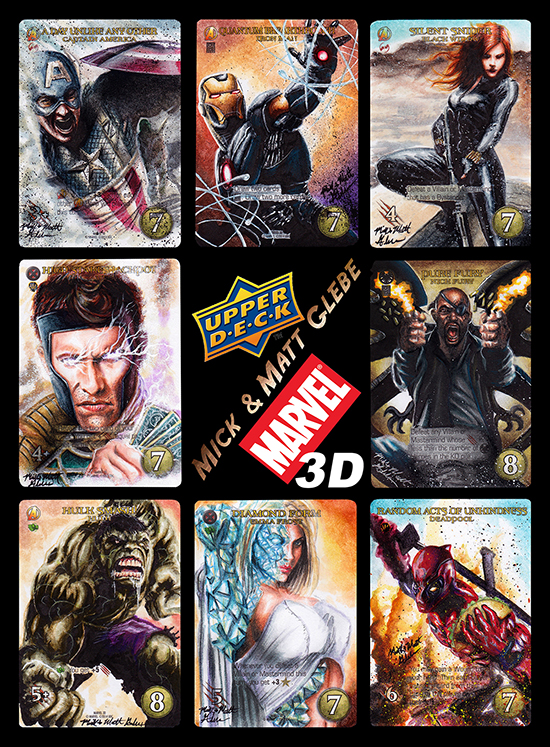 2015-Upper-Deck-Marvel-3D-Legendary-Sketch-Card-Mick-Matt-Glebe
