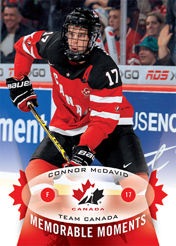 2015-Upper-Deck-Spring-Expo-Memorable-Moments-Card-Connor-McDavid-Team-Canada-1