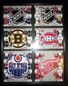 Black-Diamond-Hockey-NHL-Jersey-Puzzle-Cards-Team-2