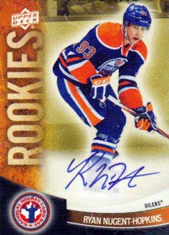 Connor-McDavid-2011-12-Upper-Deck-National-Hockey-Card-Day-Autograph-Ryan-Nugent-Hopkins