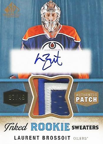 Connor-McDavid-2014-15-Upper-Deck-SP-Game-Used-Laurent-Brossoit-Edmonton-Oilers-Goalie