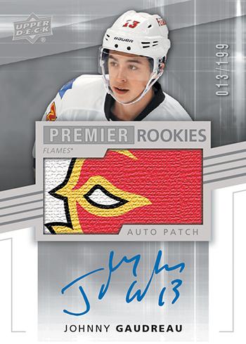 2014-15-NHL-UD-Premier-Rookie-Autograph-Patch-Johnny-Gaudreau