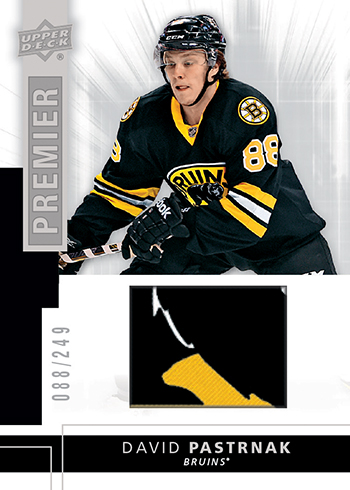 2014-15-NHL-UD-Premier-Rookie-Jersey-Patch-David-Pastrnak