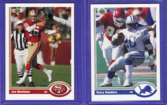 Collecting-Full-Circle-Blog-Story-Jeremy-St-Louis-Upper-Deck-1991-Joe-Montana-Barry-Sanders-Football-Promo-Card