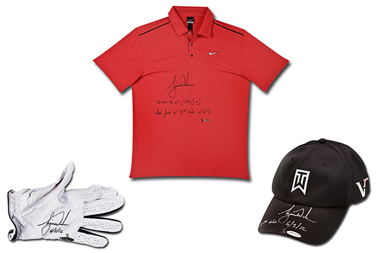 tiger-woods-autographed-inscribed-2012-final-round-polo-hat-glove-memorial-2012-win-fathers-day-gift-dad