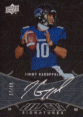 Best-Rookie-Cards-Collect-Valueable-Rare-Jimmy-Garoppolo-Upper-Deck-Black-Signatures