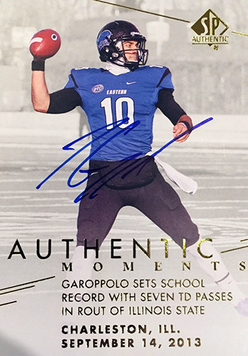Best-Rookie-Cards-Collect-Valueable-Rare-Jimmy-Garoppolo-Upper-Deck-SP-Authentic-Moments