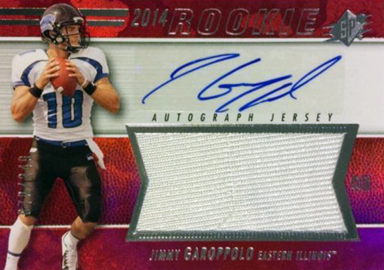 Best-Rookie-Cards-Collect-Valueable-Rare-Jimmy-Garoppolo-Upper-Deck-SPx