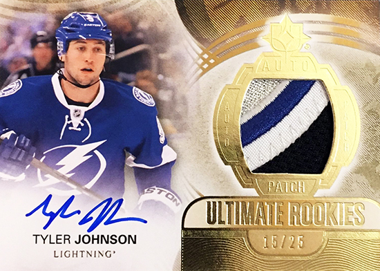tyler-johnson-autograph-patch-upper-deck-ultimate-collection-card