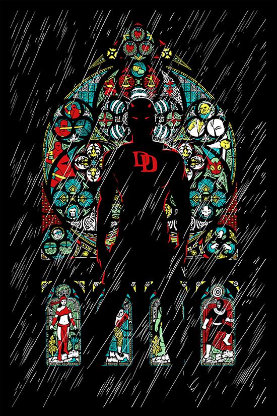 Comic-Con-Exclusive-2015-Marvel-Original-Art-Poster-Daredevil-Color-Variant