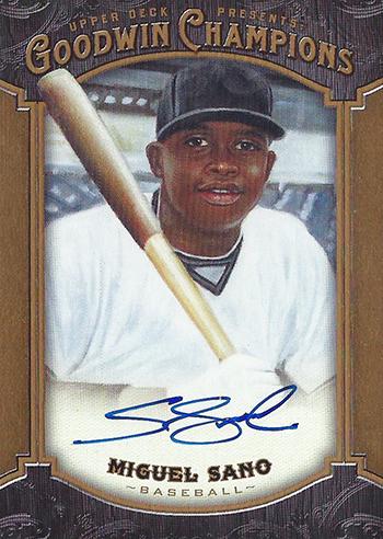 Goodwin-Champions-2014-Miguel-Sano-Autograph-Card-Baseball