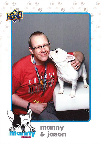 Upper-Deck-National-Manny-Frenchie-Collector-Meet-Greet-Bulldog-fan-happy