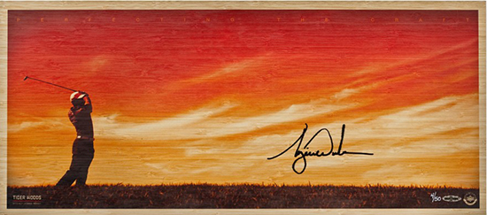 tiger-woods-autographed-perfecting-the-craft-bamboo-print-83758-upper-deck-authenticated-national