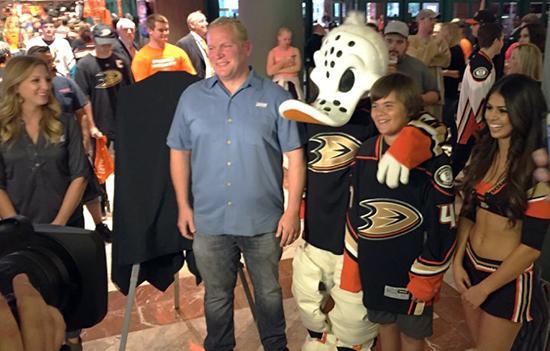 2015-Anaheim-Ducks-Home-Opener-Kai-Quinonez-Young-Guns-Rookie-Reveal-7
