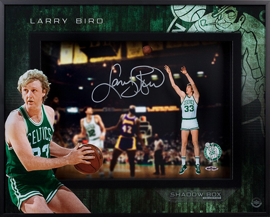 Larry Bird Autographed Shadow Box