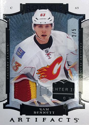 2015-16-Upper-Deck-NHL-Artifacts-Top-Best-Rookie-Card-Sam-Bennett-Patfch-Tag