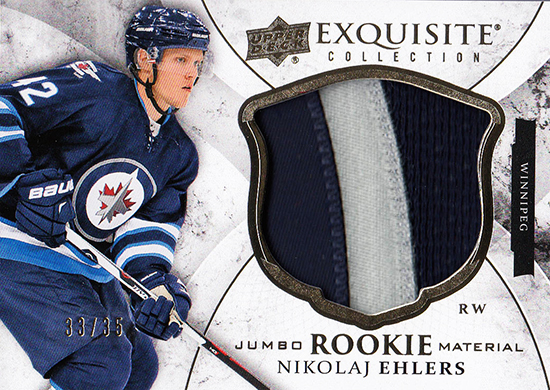 2015-16-Upper-Deck-NHL-Exquisite-Collection-Winnipeg-Jets-Jumbo-Patch-Nikolaj-Ehlers-Rookie