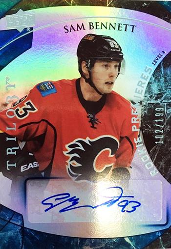 2015-16-Upper-Deck-NHL-Trilogy-Top-Best-Rookie-Card-Sam-Bennett-Signature