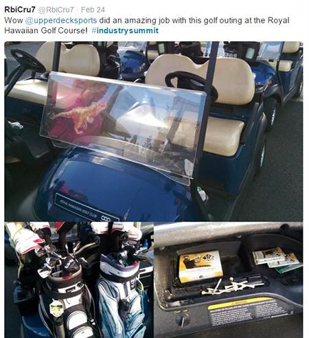 Hawaii-Trade-Show-Beckett-Upper-Deck-Golf-Cart-Fan
